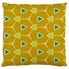 Connected Triangles large Flano Cushion Case (two Sides)