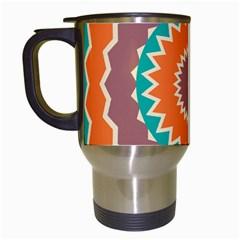 Hypnotic star Travel Mug (White)