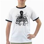 Vintage Octopus Ringer T Front