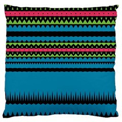 Chevrons And Triangles 	large Flano Cushion Case (two Sides)