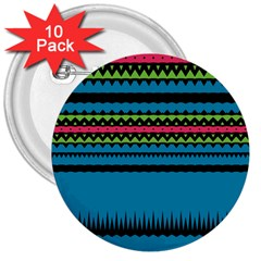 Chevrons and triangles3  Button (10 pack)