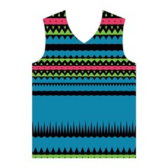 Chevrons and triangles Men s Basketball Tank Top