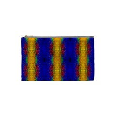 Cool  Abstract Neon Pattern Cosmetic Bag (small)