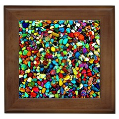 Colorful Stones, Nature Framed Tiles