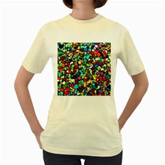 Colorful Stones, Nature Women s Yellow T-Shirt