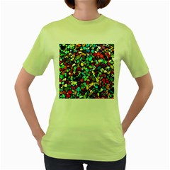 Colorful Stones, Nature Women s Green T-Shirt
