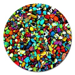 Colorful Stones, Nature Magnet 5  (round)