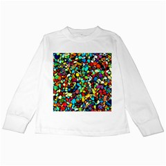 Colorful Stones, Nature Kids Long Sleeve T-Shirts