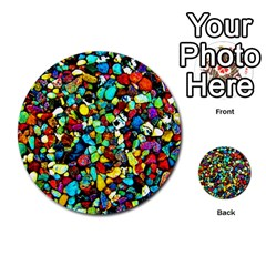 Colorful Stones, Nature Multi-purpose Cards (Round)