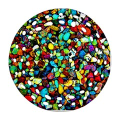 Colorful Stones, Nature Ornament (round Filigree)