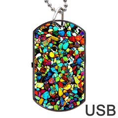 Colorful Stones, Nature Dog Tag Usb Flash (one Side)