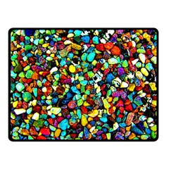 Colorful Stones, Nature Double Sided Fleece Blanket (small)