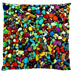 Colorful Stones, Nature Standard Flano Cushion Cases (two Sides)