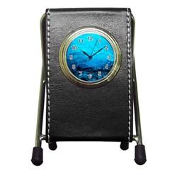 MENDENHALL ICE CAVES 3 Pen Holder Desk Clocks