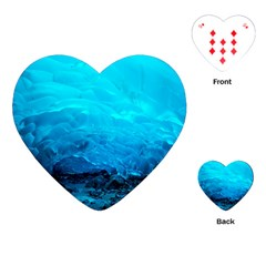 Mendenhall Ice Caves 3 Playing Cards (heart)