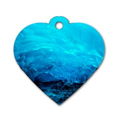 MENDENHALL ICE CAVES 3 Dog Tag Heart (One Side)