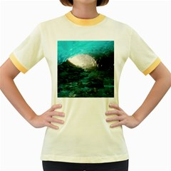 MENDENHALL ICE CAVES 2 Women s Fitted Ringer T-Shirts
