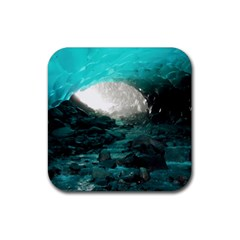 Mendenhall Ice Caves 2 Rubber Square Coaster (4 Pack)