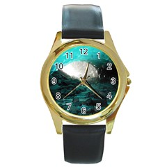 MENDENHALL ICE CAVES 2 Round Gold Metal Watches