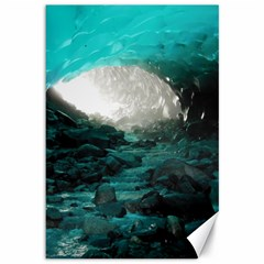 Mendenhall Ice Caves 2 Canvas 12  X 18