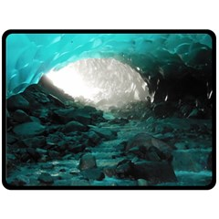 Mendenhall Ice Caves 2 Double Sided Fleece Blanket (large)