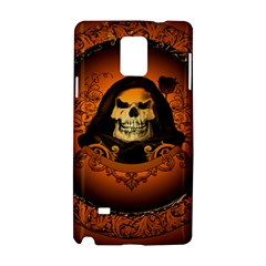 Awsome Skull With Roses And Floral Elements Samsung Galaxy Note 4 Hardshell Case