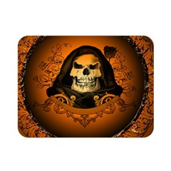 Awsome Skull With Roses And Floral Elements Double Sided Flano Blanket (mini)