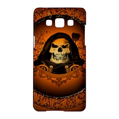 Awsome Skull With Roses And Floral Elements Samsung Galaxy A5 Hardshell Case