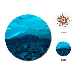 Mendenhall Ice Caves 1 Playing Cards (round)