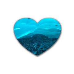 MENDENHALL ICE CAVES 1 Rubber Coaster (Heart)