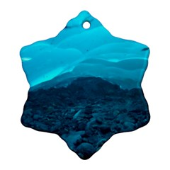 Mendenhall Ice Caves 1 Snowflake Ornament (2 Side)