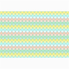 Scallop Repeat Pattern In Miami Pastel Aqua, Pink, Mint And Lemon Collage 12  X 18