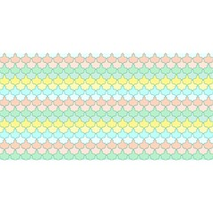 Scallop Repeat Pattern In Miami Pastel Aqua, Pink, Mint And Lemon You Are Invited 3d Greeting Card (8x4)
