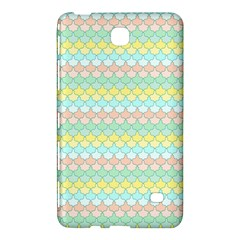 Scallop Repeat Pattern In Miami Pastel Aqua, Pink, Mint And Lemon Samsung Galaxy Tab 4 (7 ) Hardshell Case