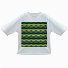 Scallop Pattern Repeat in  New York  Teal, Mustard, Grey and Moss Infant/Toddler T-Shirts