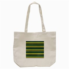 Scallop Pattern Repeat In  new York  Teal, Mustard, Grey And Moss Tote Bag (cream)