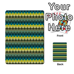Scallop Pattern Repeat in  New York  Teal, Mustard, Grey and Moss Multi-purpose Cards (Rectangle)