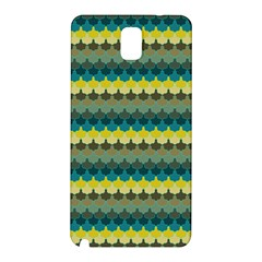 Scallop Pattern Repeat In  new York  Teal, Mustard, Grey And Moss Samsung Galaxy Note 3 N9005 Hardshell Back Case