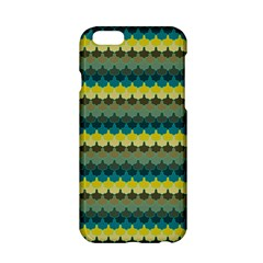 Scallop Pattern Repeat In  new York  Teal, Mustard, Grey And Moss Apple Iphone 6/6s Hardshell Case