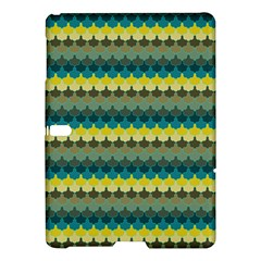 Scallop Pattern Repeat In  new York  Teal, Mustard, Grey And Moss Samsung Galaxy Tab S (10 5 ) Hardshell Case