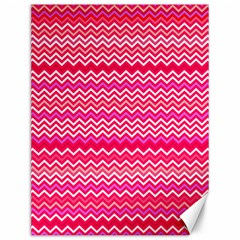 Valentine Pink and Red Wavy Chevron ZigZag Pattern Canvas 12  x 16