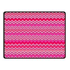 Valentine Pink And Red Wavy Chevron Zigzag Pattern Fleece Blanket (small)