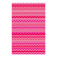 Valentine Pink And Red Wavy Chevron Zigzag Pattern Shower Curtain 48  X 72  (small)