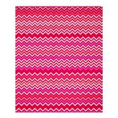 Valentine Pink And Red Wavy Chevron Zigzag Pattern Shower Curtain 60  X 72  (medium)