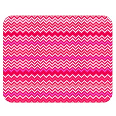 Valentine Pink and Red Wavy Chevron ZigZag Pattern Double Sided Flano Blanket (Medium)