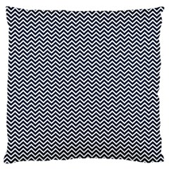 Blue And White Chevron Wavy Zigzag Stripes Standard Flano Cushion Cases (one Side)