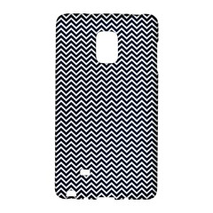 Blue And White Chevron Wavy Zigzag Stripes Galaxy Note Edge