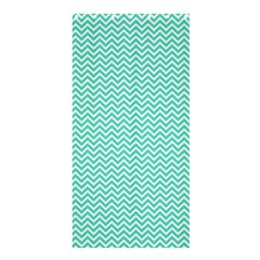 Tiffany Aqua And White Chevron Wavy Zigzag Stripes Shower Curtain 36  X 72  (stall)