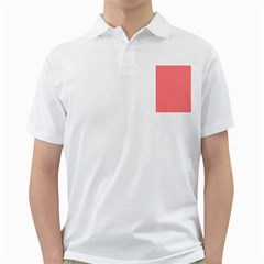 Red And White Chevron Wavy ZigZag Stripes Golf Shirts