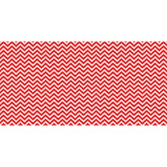 Red And White Chevron Wavy ZigZag Stripes YOU ARE INVITED 3D Greeting Card (8x4)